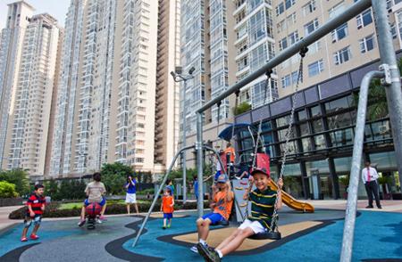 Sân chơi trẻ em tại dự án Saigon Pearl.